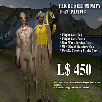 Flight Suit Kit US Navy Pacific WW2