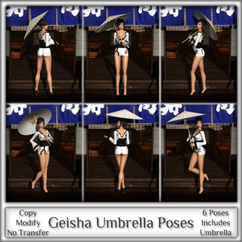 *MP* Geisha Umbrella (Model Poses)