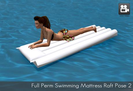 Full Perm Swimming Mattress Raft Pose / Lying on Beach - 2