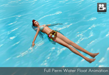 Full Perm floating on water animation- swimming pool animation