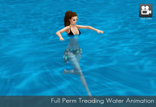 Full Perm Treading Water - Swimming Pool animation