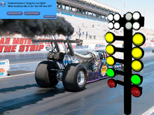 Dragster lights race countdown