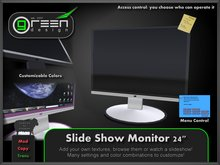 """●GD● Slide Show Monitor 24"""" [Multi Color, Slideshow, Static] Many customizable options Screen"""