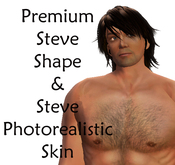 Premium Steve Shape & Photorealistic Skin (hair not included)