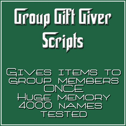 Group Gift Scripts - BOXED