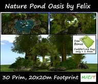 Nature Pond Oasis by Felix 30 Prim 20x20m Size copy/mody (for landscaping grotto garden waterfall forest tree plant cave