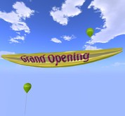 Banner - Grand Opening - Yellow - MOD/COPY - Xntra City Balloons
