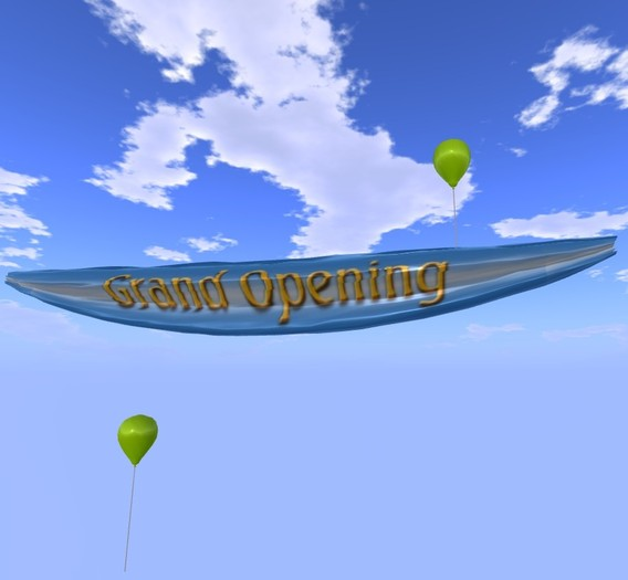 Banner - Grand Opening - Blue - MOD/COPY - Xntra City Balloons