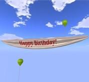 Bannière - Joyeux anniversaire! - Rouge - MOD / COPY - Ballons Ville Xntra