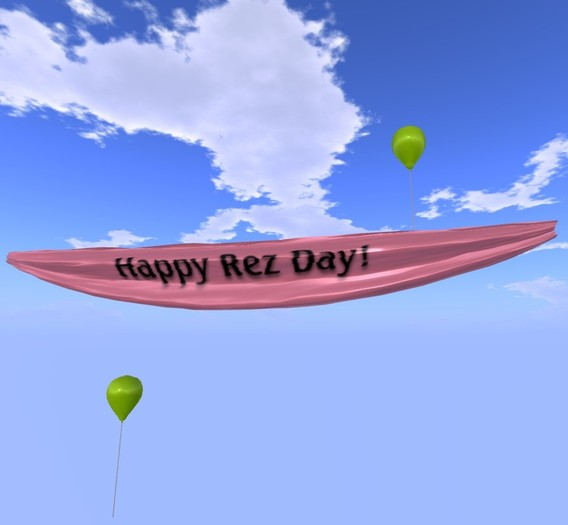 Banner - Happy Rez Day! - Pink - MOD/COPY - Xntra City Balloons