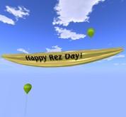 Banner - Dia Rez feliz! - Amarelo - MOD COPY / - Cidade Balões Xntra