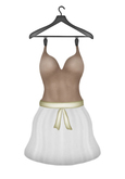 [croire] Indie Hipster Zooey Dress (milk chocolate) (cutout heart back, sculpted skirt, alpha layer, belt color option)