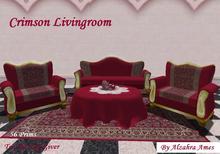 Crimson Livingroom by Alzahra Ames