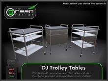 ●GD● DJ Trolley Tables Silver [Animated DJ'ing, Shutters, Keyboard Slide-In] Club Equipment