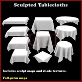 Sculpted Tablecloth - Table cloth sculpties - Sculpty tablecloths - full perm with shade textures