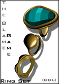 [DDL]The Blame Game Ring Set (Turquoise)