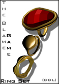 [DDL]The Blame Game Ring Set (red)