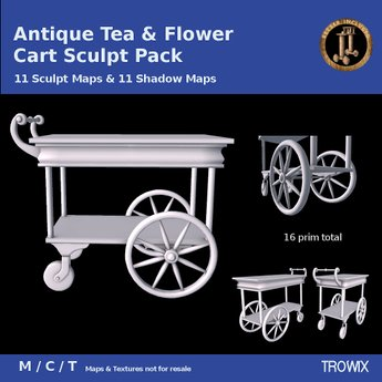 Trowix - Antique Tea & Flower Cart Sculpt Pack