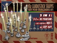 [FFBox] 15x Candlestick Shapes Set-01 {Full Perm} for Builders