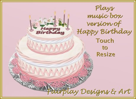 Magnificent Second Life Marketplace Sweetheart Birthday Cake Personalised Birthday Cards Veneteletsinfo