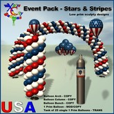 Red White and Blue Balloons Party Pack V 1.1- Stars and Stripes - Xntra City Balloons - Independence Day