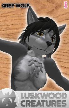 Luskwood Grey Wolf Avatar - Female