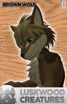 Luskwood Brown Wolf Avatar - (Complete Male Furry Avatar)