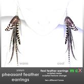 Yasyn - Pheasant Feather Earrings
