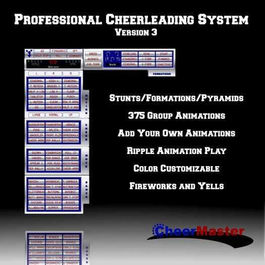 %60 OFF SALE! CheerMaster Cheerleading HUD Professional Cheerleader Animations, Gesture, Stunt and Pyramid System