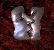 Bronze wall art the kiss