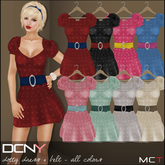 DCNY Dotty Dress & Belt in All Colors, 8 dresses