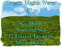 Dragon Magick Wares Sky Dome 40 m Skybox Texture Change Ground & Animated Sky