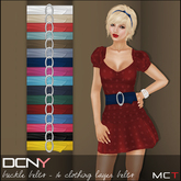 DCNY Buckle Belts, 16 clothing layer belts