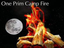 Camp Fire. One Prim (Driftwood Campfire Edition)