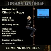 Climbing Rope Set w/Speed Control Menu - 2 Rope Styles