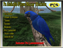 Ps Animated Hyacinth Macaw Realistic Sculpty Bird Talkable Parrot