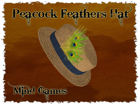 DOLLARBIE - Mind Games Fashion - Peacock Feathers Hat