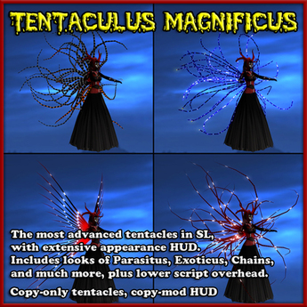 Tentaculus Magnificus - Tentacles with extensive HUD - Low Sim Lag - The most advanced in SL - Wings / Spike / Demon