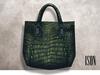 ISON - kabuki crocodile tote (emerald)