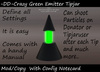 Crazy Green Club Emitter Tipjar with Config Notecard