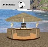 Tiki bar rond free, freebie