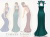 !Rebel Hope Designs - Fabria Mesh Gown Aqua