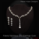 !Rebel Hope Designs - Fabria Necklace and Earrings Gold