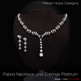 !Rebel Hope Designs - Fabria Necklace and Earrings Platinum
