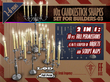 [FFBox] 10x Candlestick Shapes Set-03 {Full Perm} for Builders