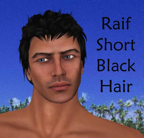 Raif Short Black Men's Hair