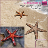 Full Perm Mesh 1 prim Sea Star - Star fish Builder's kit