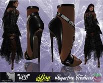 **SD**-Ljsa Romantic  formal shoes Stiletto Black Version