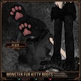 [Mesh] =^.^= Curious Kitties - Monster Fur Kitty Boots - Black