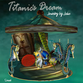 1911- the Titanic Dream Carousel w/Display Table-by Jake V*(sm)